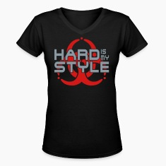 HARD IS MY STYLE - hardstyle vector | women's v-ne