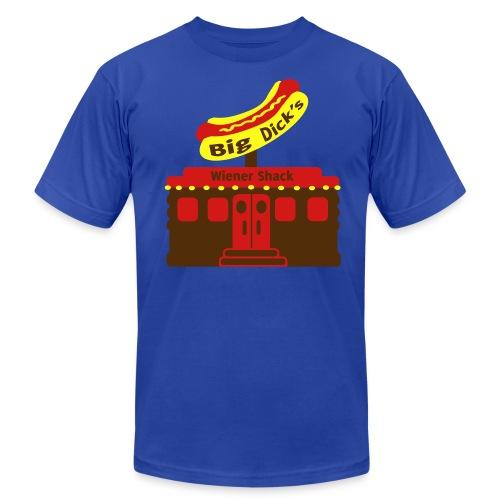 Big Dick's Wiener Shack - Men's Shirt - Men's  Jersey T-Shirt