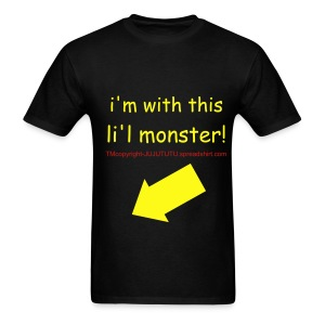 DADS=i'm with this li'l monster-TM,COPYRIGHT,ALL RIGHTS RESERVED - Men's T-Shirt