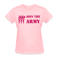 Women's T-Shirts ~ Women's T-Shirt ~ Join the Pink Ribbon Army - Women's T-shirt