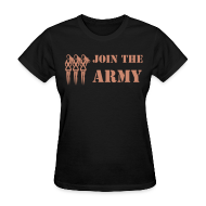 Women's T-Shirts ~ Women's T-Shirt ~ Join the Pink Ribbon Army - Women's T-shirt - Pink Glitter