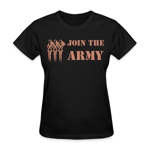 Join the Pink Ribbon Army - Women's T-shirt - Pink Glitter - Women's T-Shirt