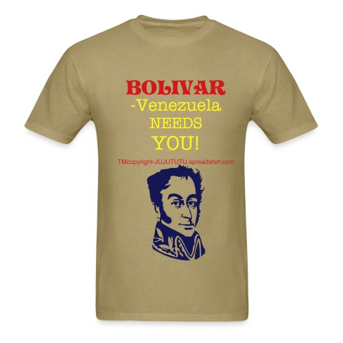 clk photos to see TEXT ON BACK=deliver us from chavez-venezuela libreTM,COPYRIGHT,ALL RIGHTS RESERVED - Men's T-Shirt
