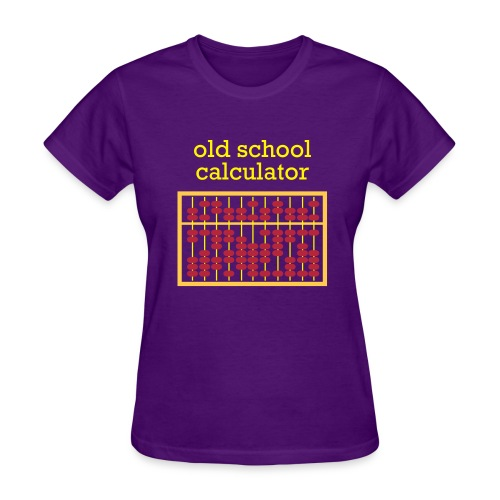 Old School Caclulator (abacus) - Women's T-Shirt