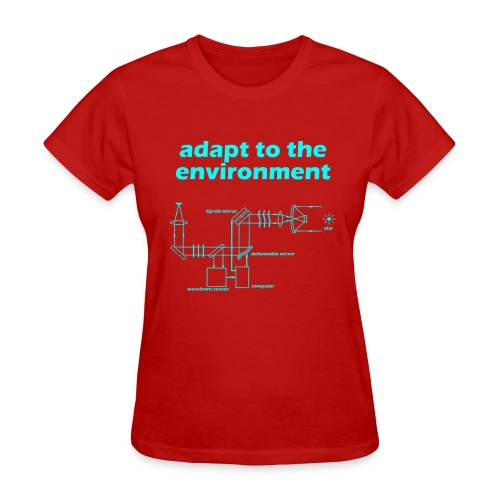 Adapt to the Environment (adaptive optics) - Women's T-Shirt