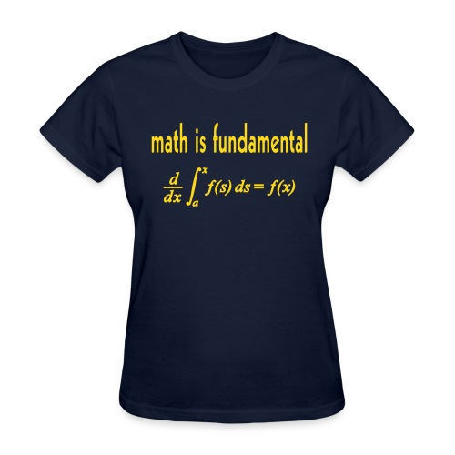 Math is Fundamental - Women's T-Shirt