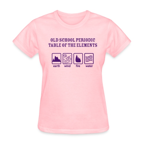 Old School Periodic Table - Women's T-Shirt