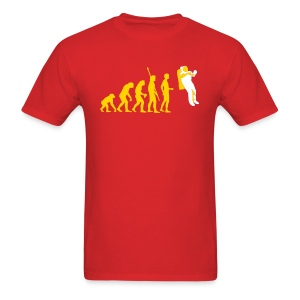 YellowIbis.com 'Astronomy One Liners' Men's / Unisex Standard T: Astronaut Evolution (Red) - Men's T-Shirt