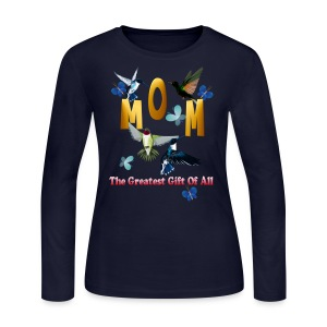MOM. The greatest gift of all. - Women's Long Sleeve Jersey T-Shirt