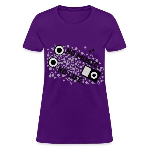 no music no life purple - Women's T-Shirt