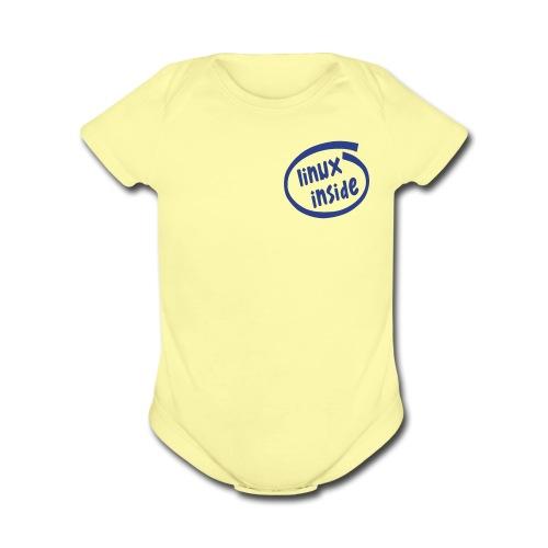 Linix Inside (on Choice) - Organic Short Sleeve Baby Bodysuit