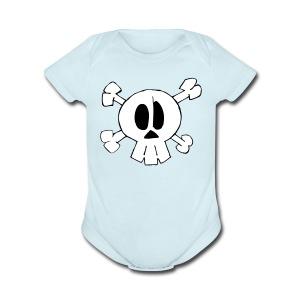 Lil Zomby Skull  - Short Sleeve Baby Bodysuit