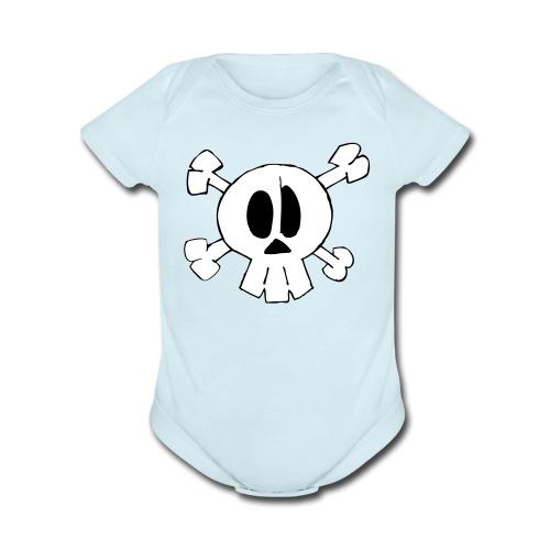 Lil Zomby Skull  - Organic Short Sleeve Baby Bodysuit