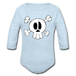Lil Zomby Skull  - Long Sleeve Baby Bodysuit
