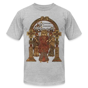 Book Of Kells, Arrest of Jesus; 8th Century - Men's Fine Jersey T-Shirt