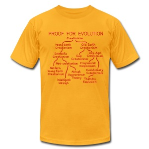 Evolution of Creationism - Men's T-Shirt by American Apparel