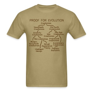 Evolution of Creationism - Men's T-Shirt