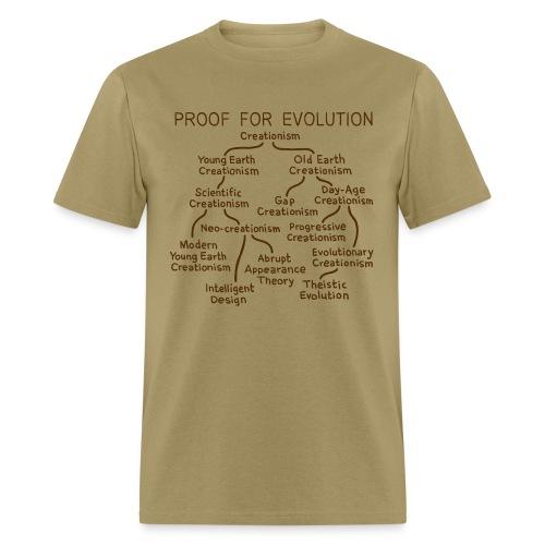 Evolution of Creationism - Men's T-Shirt