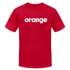 Orange logo slim fit tee - Men's T-Shirt by American Apparel