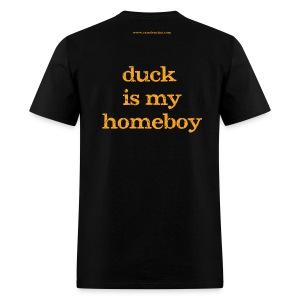 Men's FRONT/BACK: CC/duck homeboy (black) - Men's T-Shirt