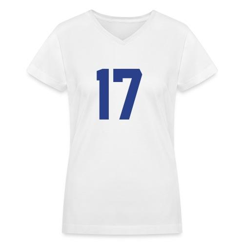 #17  - Women's V-Neck T-Shirt