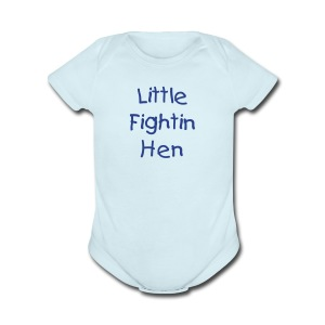 Little Fightin Hen Short Sleeve One-Piece - Short Sleeve Baby Bodysuit