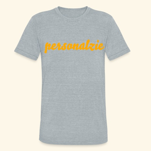 New Product/personalize your way - Unisex Tri-Blend T-Shirt