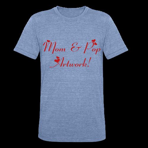 Mom and Pop Artwork - Unisex Tri-Blend T-Shirt