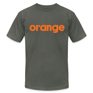 orange logo men's AA tee  - Men's T-Shirt by American Apparel