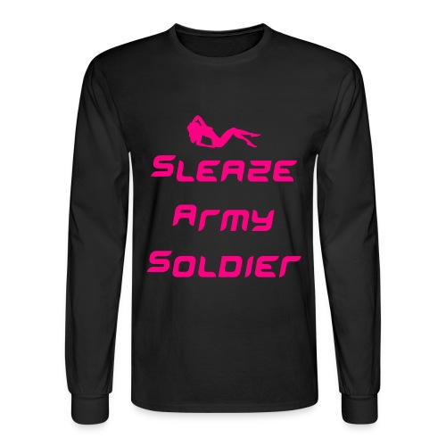 Sleaze Army Soldier Long Sleeved Shirt - Men's Long Sleeve T-Shirt