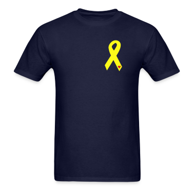 Yellow Ribbon with Heart - Military