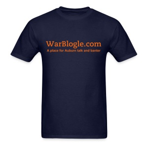WarBlogle.com - Orange Text - Men's T-Shirt