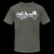 T-Shirts ~ Men's T-Shirt by American Apparel ~ Detroit Skyline With Roots Men's American Apparel Tee
