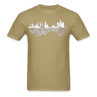 T-Shirts ~ Men's T-Shirt ~ Detroit Skyline With Roots Men's Standard Weight T-Shirt