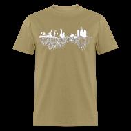 T-Shirts ~ Men's T-Shirt ~ Detroit Skyline With Roots Men's Standard Weight T-Shirt