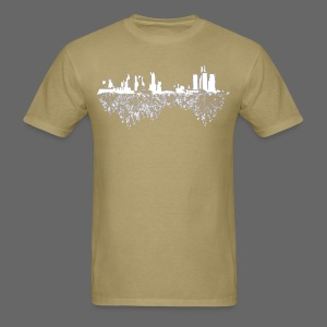 Detroit Skyline With Roots Men's Standard Weight T-Shirt - Men's T-Shirt
