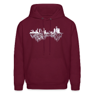Hoodies ~ Men's Hoodie ~ Detroit Skyline With Roots Men's Hooded Sweatshirt