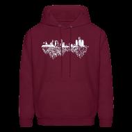 Hoodies ~ Men's Hoodie ~ Detroit Skyline With Roots Men's Hooded Sweatshirt