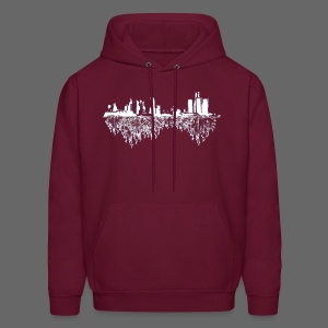 Detroit Skyline With Roots Men's Hooded Sweatshirt - Men's Hoodie