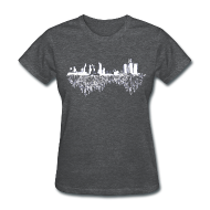 T-Shirts ~ Women's T-Shirt ~ Detroit Skyline With Roots Women's Standard Weight T-Shirt