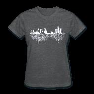 Women's T-Shirts ~ Women's T-Shirt ~ Detroit Skyline With Roots Women's Standard Weight T-Shirt