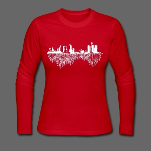 Detroit Skyline With Roots Women's Long Sleeve Jersey Tee - Women's Long Sleeve Jersey T-Shirt