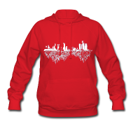 Hoodies ~ Women's Hoodie ~ Detroit Skyline With Roots Women's Hooded Sweatshirt