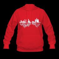 Hoodies ~ Women's Hoodie ~ Detroit Skyline With Roots Women's Hooded Sweatshirt