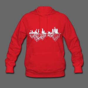 Detroit Skyline With Roots Women's Hooded Sweatshirt - Women's Hoodie