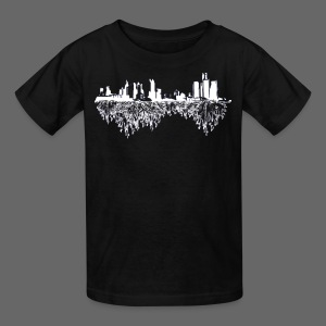 Detroit Skyline With Roots Children's T-Shirt - Kids' T-Shirt