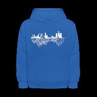 Sweatshirts ~ Kids' Hoodie ~ Detroit Skyline With Roots Kid's Hooded Sweatshirt