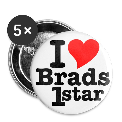 I Heart Brads1star Pins - Large Buttons