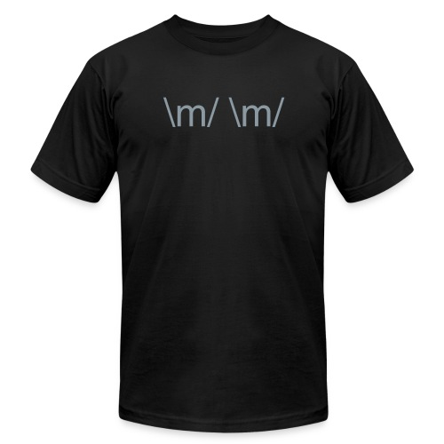 \m/ \m/ - Men's T-Shirt by American Apparel