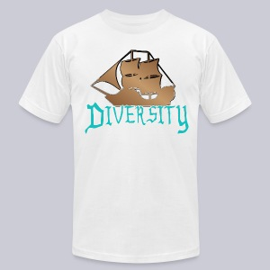 Diversity Wooden Boat - Men's T-Shirt by American Apparel